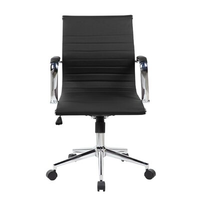 Ferrara Desk Chair Upholstery: Black