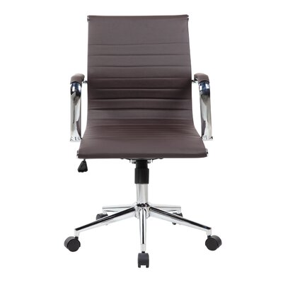 Ferrara Desk Chair Upholstery: Brown