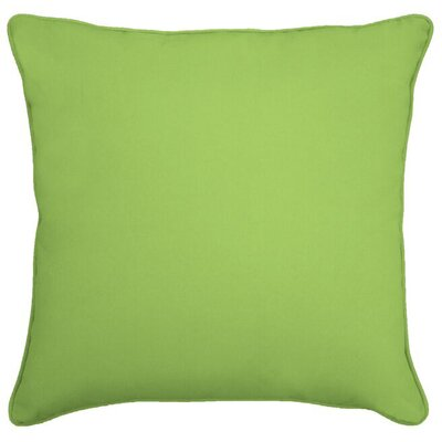 Ferree Outdoor Throw Pillow Color: Apple Green, Size: 20
