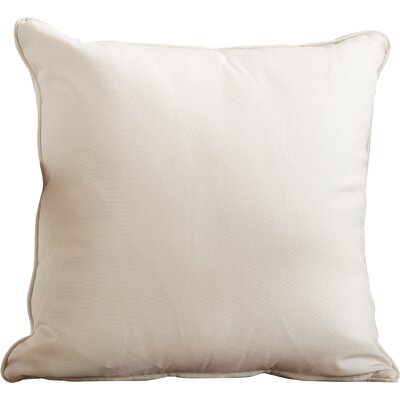 Lavonna Outdoor Throw Pillow Color: Natural, Size: 18