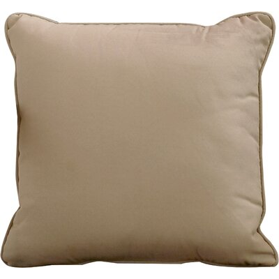 Lavonna Outdoor Throw Pillow Size: 22 H x 22 W, Color: Sandstone