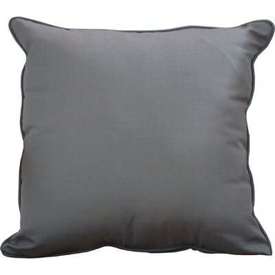 Lavonna Outdoor Throw Pillow Size: 22 H x 22 W, Color: Charcoal