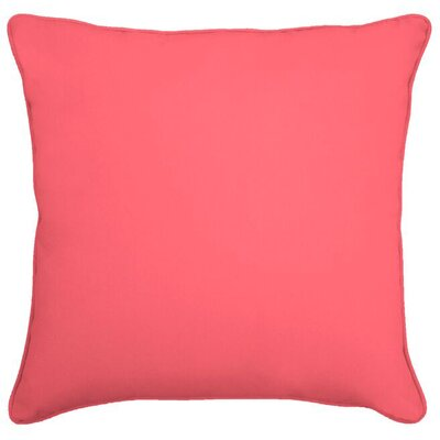 Ferree Outdoor Throw Pillow Size: 22 H x 22 W, Color: Melon