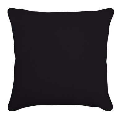 Ferree Outdoor Throw Pillow Size: 18 H x 18 W, Color: Fresco Black