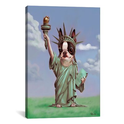 Liberty by Brian Rubenacker Painting Print on Wrapped Canvas Size: 18