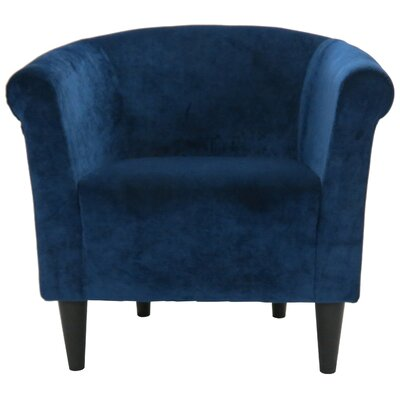 Feller Savannah Barrel Chair Color: Blue