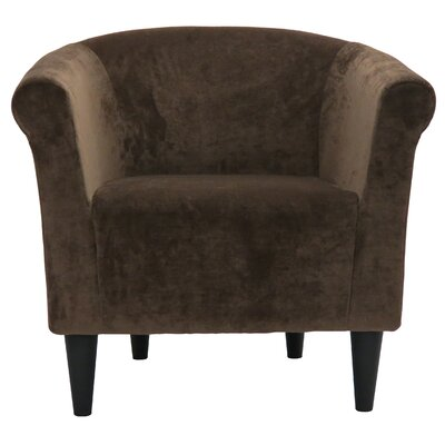 Liam Barrel Chair Upholstery: Brown