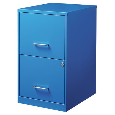 Chaidez 2 Drawer File Cabinet Color: Blue
