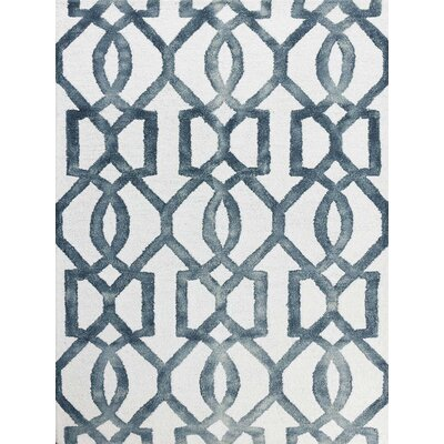 Eltingville White & Gray Area Rug Rug Size: Rectangle 76 x 96