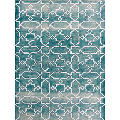 Eltingville Sea Blue/White Area Rug Rug Size: Rectangle 76 x 96