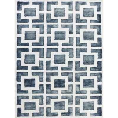 Eltingville Gray/White Area Rug Rug Size: Rectangle 8 x 11