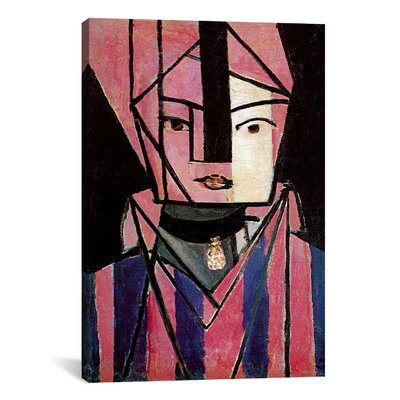 White and Pink Head Painting Print on Wrapped Canvas Size: 12