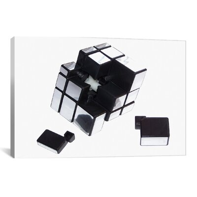 Mirror Cube Disassembled by Thomas Photographic Print on Canvas Size: 12