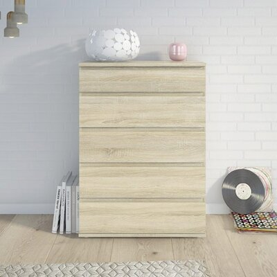 Karev 5 Drawer Wood Chest Color: Oak Structure