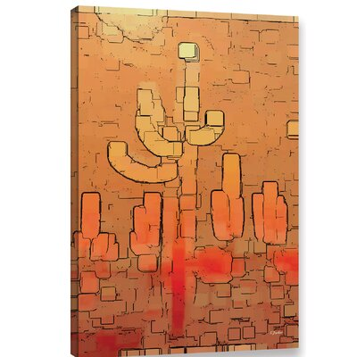 'Modern Saguaro' Graphic Art Print on Canvas Size: 12