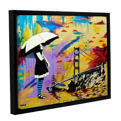 'Shelter at Bay' Framed Graphic Art Print on Canvas Size: 14