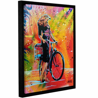 'Cycle Roaring' Framed Graphic Art Print on Canvas Size: 10