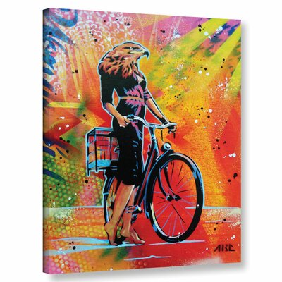'Cycle Roaring' Graphic Art Print on Canvas Size: 10
