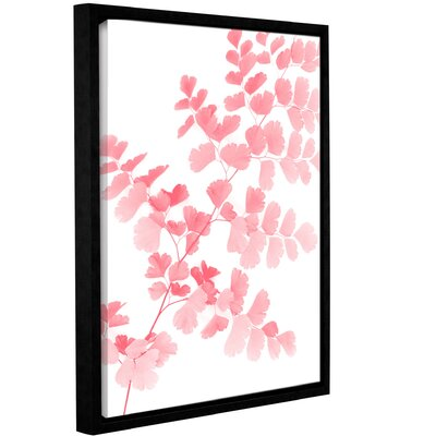 'Pink Maidenhair' Framed Graphic Art Print on Canvas Size: 10'' H x 8'' W x 2'' D