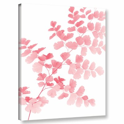 'Pink Maidenhair' Graphic Art Print on Canvas Size: 10'' H x 8'' W x 2'' D