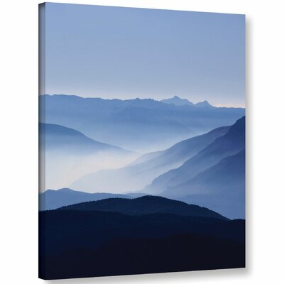 'Blue Mountains' Photographic Print on Wrapped Canvas Size: 10'' H x 8'' W x 2'' D