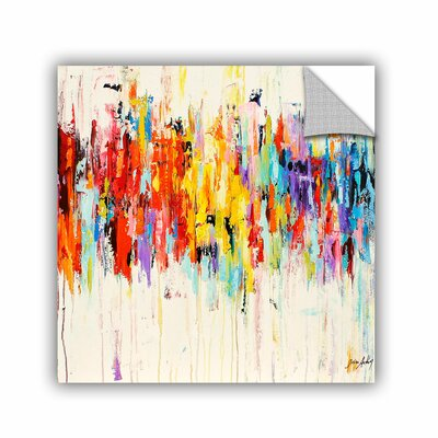 Printers Row Abstract Rainbow Wall Mural Size: 14