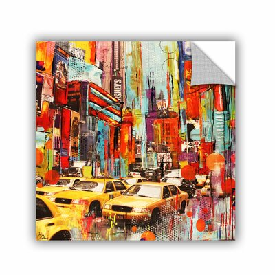 Printers Row Taxi Town Wall Mural Size: 14