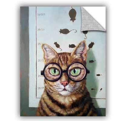 Balbo Feline Eye Exam Wall Decal Size: 10'' H x 8'' W x 0.1'' D