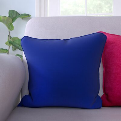 Lavonna Outdoor Throw Pillow Color: Navy, Size: 16 H x 16 W