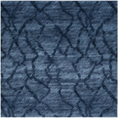Tenth Avenue Dark Blue Area Rug Rug Size: Square 8