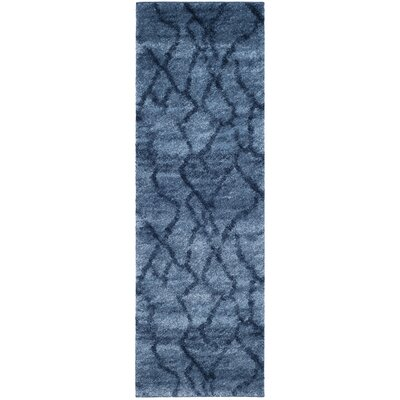 Tenth Avenue Dark Blue Area Rug Rug Size: Runner 23 x 7