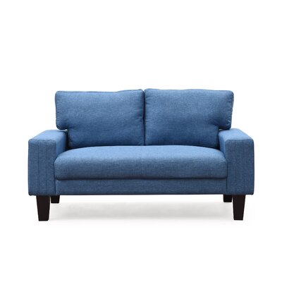 Konawa Loveseat Color: Blue