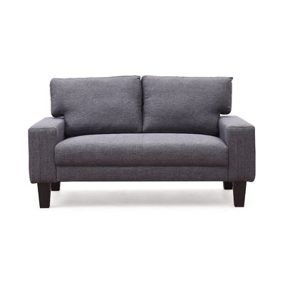 Konawa Loveseat Color: Gray