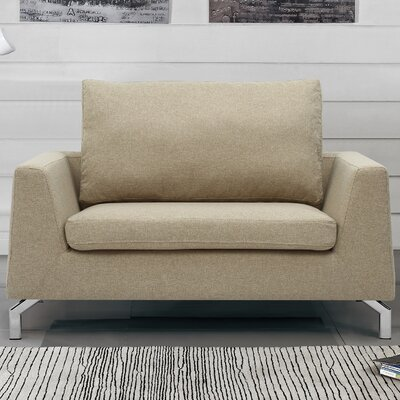 Almondsbury Loveseat Upholstery: Light Brown