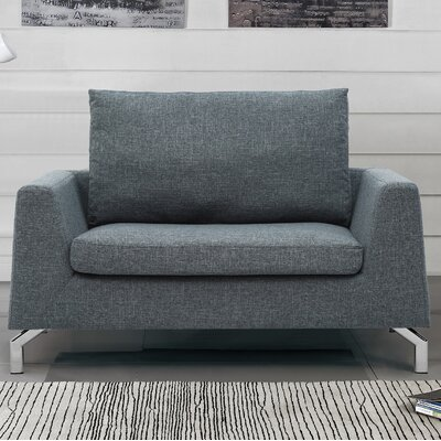 Almondsbury Loveseat Upholstery: Dark Gray