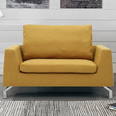 Almondsbury Loveseat Upholstery: Yellow Gold