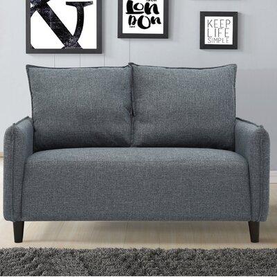 Almondsbury Morden Loveseat Upholstery: Dark Gray