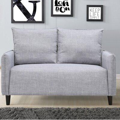 Almondsbury Morden Loveseat Upholstery: Gray