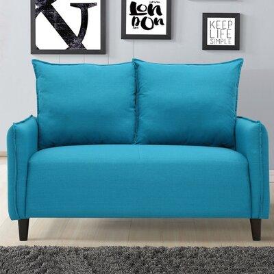 Almondsbury Morden Loveseat Upholstery: Blue