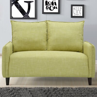 Almondsbury Morden Loveseat Upholstery: Lemon Green