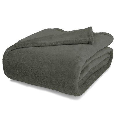 St Catherine Micro Plush Blanket Size: Twin, Color: Grey