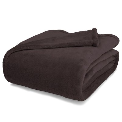 St Catherine Micro Plush Blanket Size: Full / Queen, Color: Brown