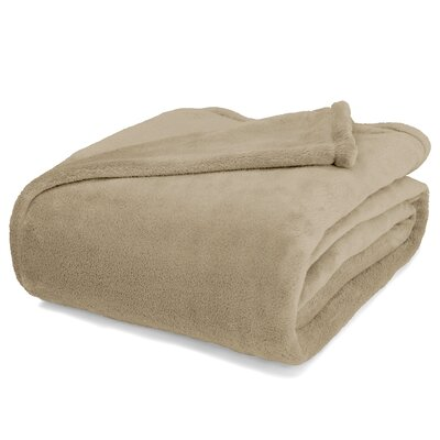 St Catherine Micro Plush Blanket Size: King, Color: Stone Tan