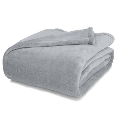 St Catherine Micro Plush Blanket Size: King, Color: Pewter