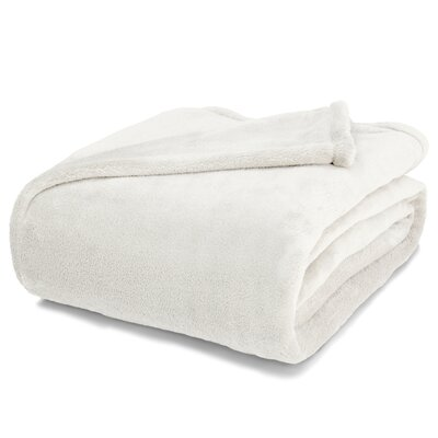 St Catherine Micro Plush Blanket Size: Full / Queen, Color: Vanilla