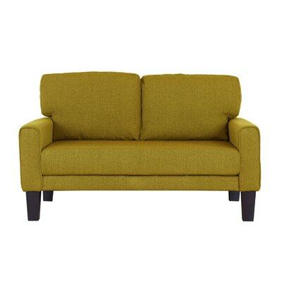 Blagdon Modern Upholstery Loveseat Upholstery: Lemon