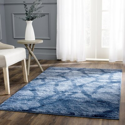 Tenth Avenue Dark Blue Area Rug Rug Size: Square 6