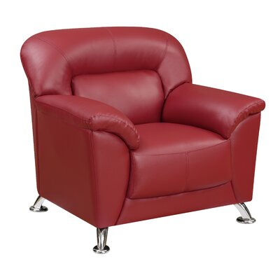 Bonnell Armchair Color: Red