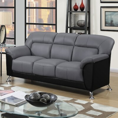 Bonnell Sofa Upholstery: Dark Grey/Black