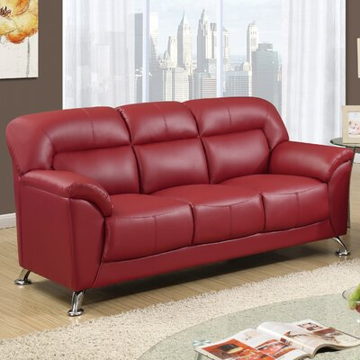 Bonnell Sofa Upholstery: Red